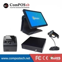 a full set pos 15 inch capacitive all in one point of sales pos terminal pos system for sale