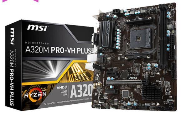 Nova a320m PRO-VH mais placa-mãe ddr4 soquete am4 32 gb usb2.0 usb3.1 vga hdmi placa-mãe frete grátis