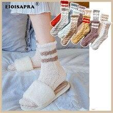 [EIOISAPRA] Herbst/Winter Casual Korallen Socken Frauen Kreative Haushalt Boden Socke Wärmer Atmungs Süßigkeiten Farbe Schwangere Frauen sox
