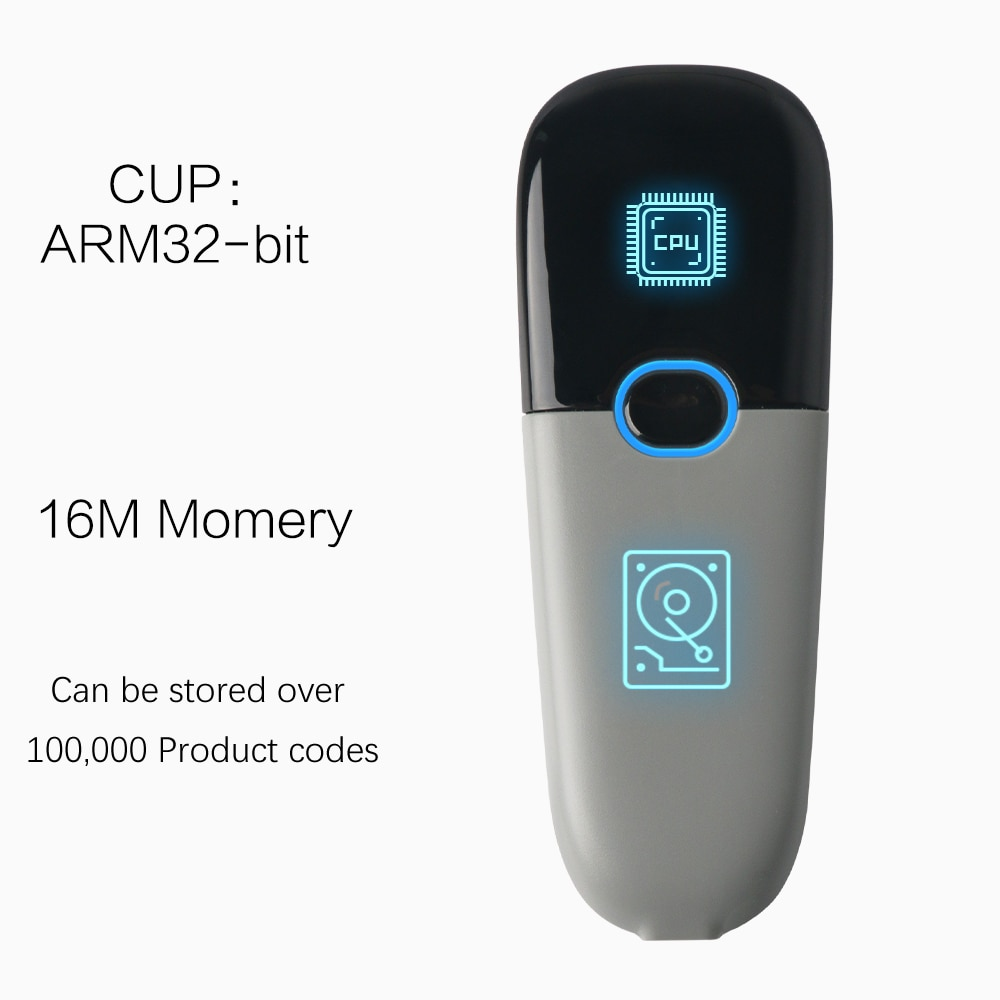 TEKLEAD Portable 2D Barcode Scanner with Bluetooth and 2.4G wireless mode CMOS Sensor