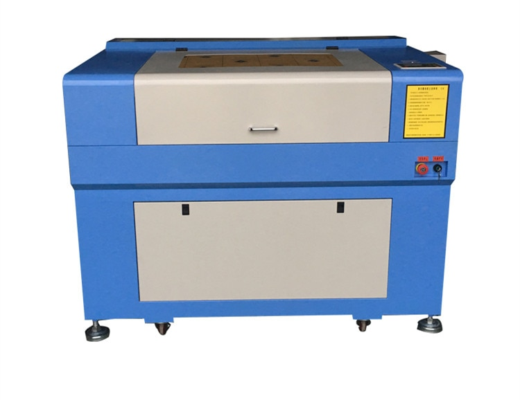 CERTIFICADO CE 60w 690 máquina de grabado láser CO2 precio barato 960 máquina de corte láser con ventilador de escape enfriador de agua CW3000