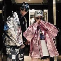 womens harajuku style baseball uniform fashion loose large size windbreaker coat