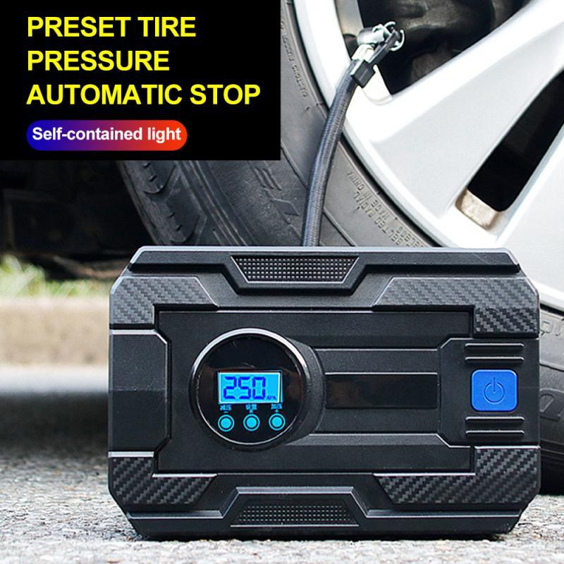Inflador Digital de neumáticos de 12 V, 19/22 cilindros, 150 PSI, bomba de compresor de aire portátil para coches, motocicletas, bicicletas, bote de goma