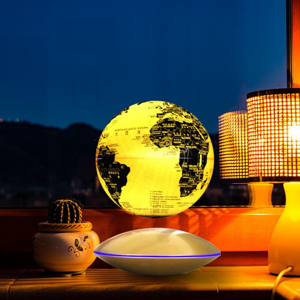 Magnetic Levitation Globe Map Home Office Decor Ball Floating Rotating 6 Inch World Earth Globe UFO Base Creative Festivals Gift