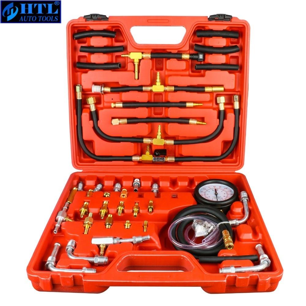 TU-443 Deluxe Manometer Fuel Pressure Gauge Engine Testing Kit Injection Pump Tester Full System