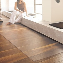 2019 New Creative Pvc Floor Mat 1mm Thick Transparent Carpet Rugs PVC Carpet Chair Floor Mats Carpet Rugs Waterproof Rug Decor