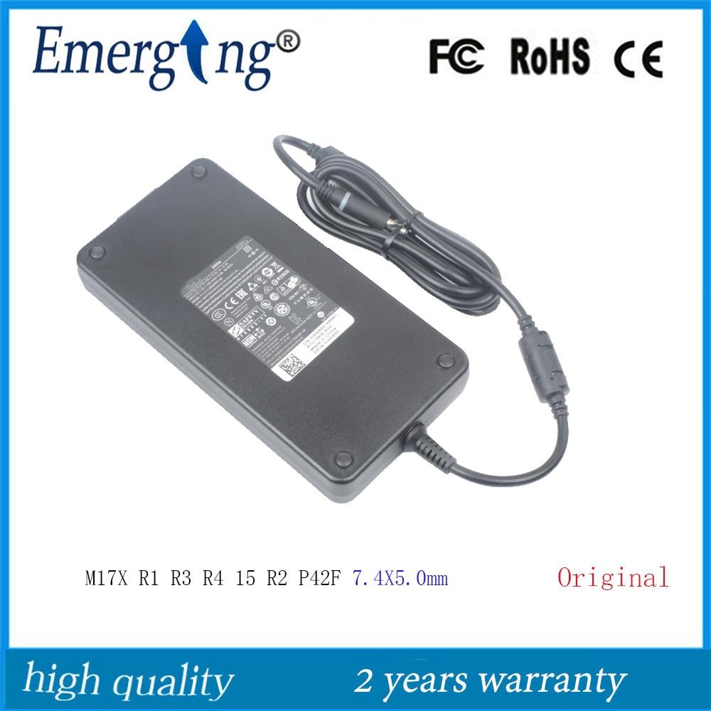19,5 V 12.3A 240W 7,4X5,0 мм оригинальный Сетевой адаптер питания для ноутбука для Dell Alienware M17X R1 R3 R4 15 R2 P42F