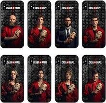 Испания ТВ ла Каса де papel чехол для Apple iPhone XS MAX X XR деньги Heist Чехлы для iPhone 6 6s 7 8 plus coque