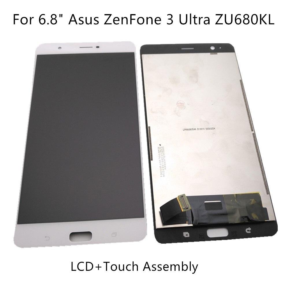شاشة عرض 6.8 بوصة لـ Asus ZenFone 3 Ultra ZU680KL LCD + شاشة رقمية تعمل باللمس مجموعة أجهزة Asus ZenFone 3 Ultra + أدوات العرض