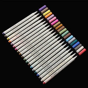 20 Colors Premium Acrylic Pens Highlighter Marker Pens Paint Pen Write On Stones Glass Scrapbooking Diary Graffiti Poster Card