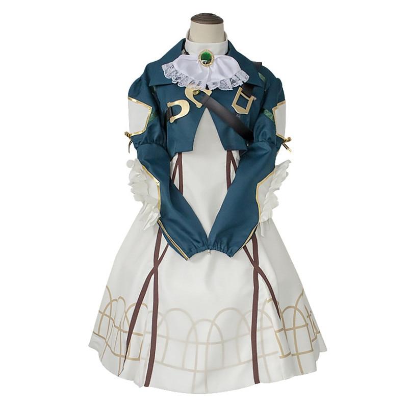 Violeta Evergarden Cosplay adulto traje Unisex mujer japonés Anime vestido