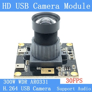 Non Distortion 30FPS UVC USB Camera module 3MP 1080P H.264 Wide dynamic CCTV Webcam Support audio for Android Linux Windows