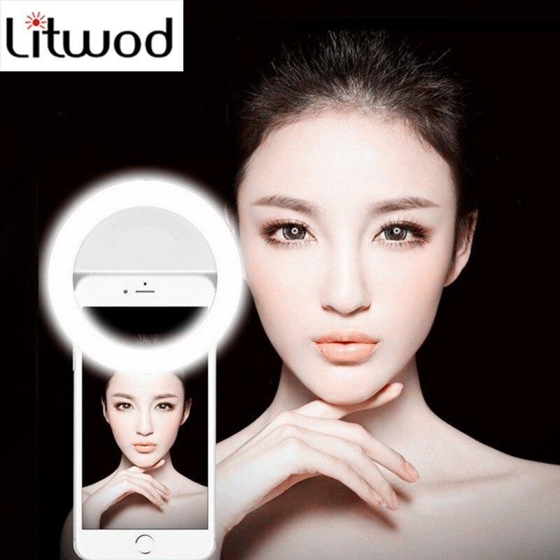 Кольцевая светодиодная портативная лампа Z25 для телефона, красивая селфи кольцевой вспышка для iPhone 5, 6, 6 s plus, 7, 7 plus, Samsung s6, s7