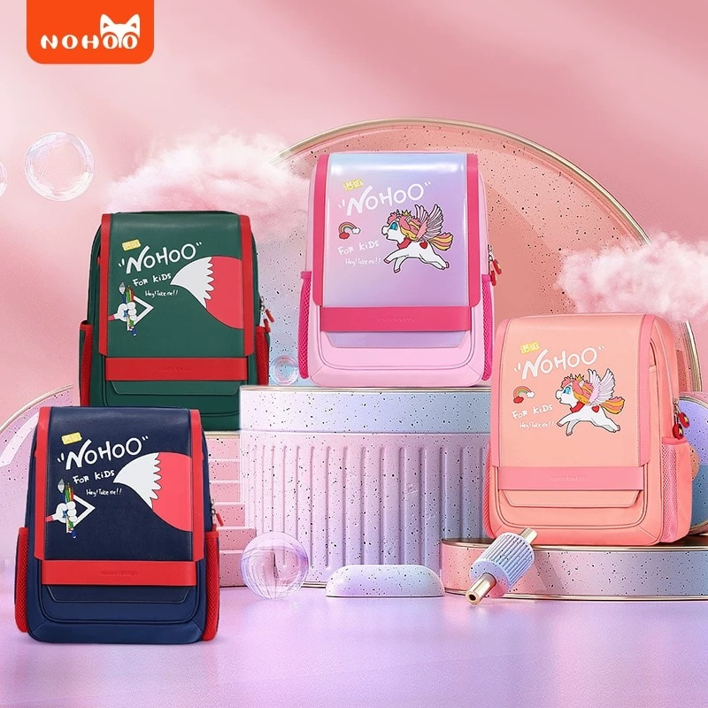 NOHOO рюкзак школьный ортопедический рюкзак детский для школы рюкзак в школу модный портфель в школу 1 класс сумка детская корейский рюкзак дл...