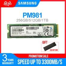 SAMSUNG SSD M.2 PM981 256GB 512GB 1TB PM961128GB Solid State Hard Disk NVMe PCIe 3.0 x4 NVMe 1.3 Laptop Internal disco duro TLC