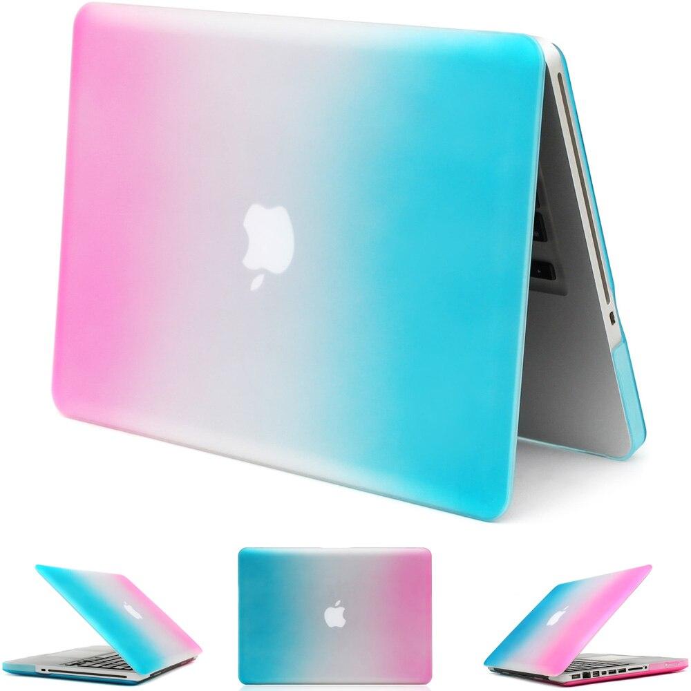 """Funda para portátil arcoíris A1278 A1286 para Macbook Pro 13,3 """"15,4"""" carcasa de protección profesional 2008-2012"""