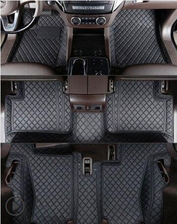 ¡De alta calidad! Alfombrillas especiales personalizadas para Mercedes Benz GL 550 X166 7 asientos 2016-2013 alfombras impermeables para GL550 2015