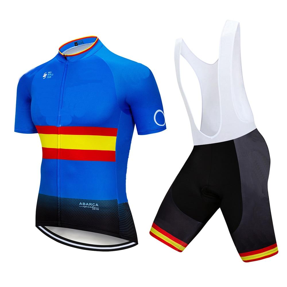 2019 equipo M camiseta de Ciclismo profesional 12D Gel Pad bicicleta corta Ropa Ciclismo para hombre gira de verano Maillot Culotte Ropa Set