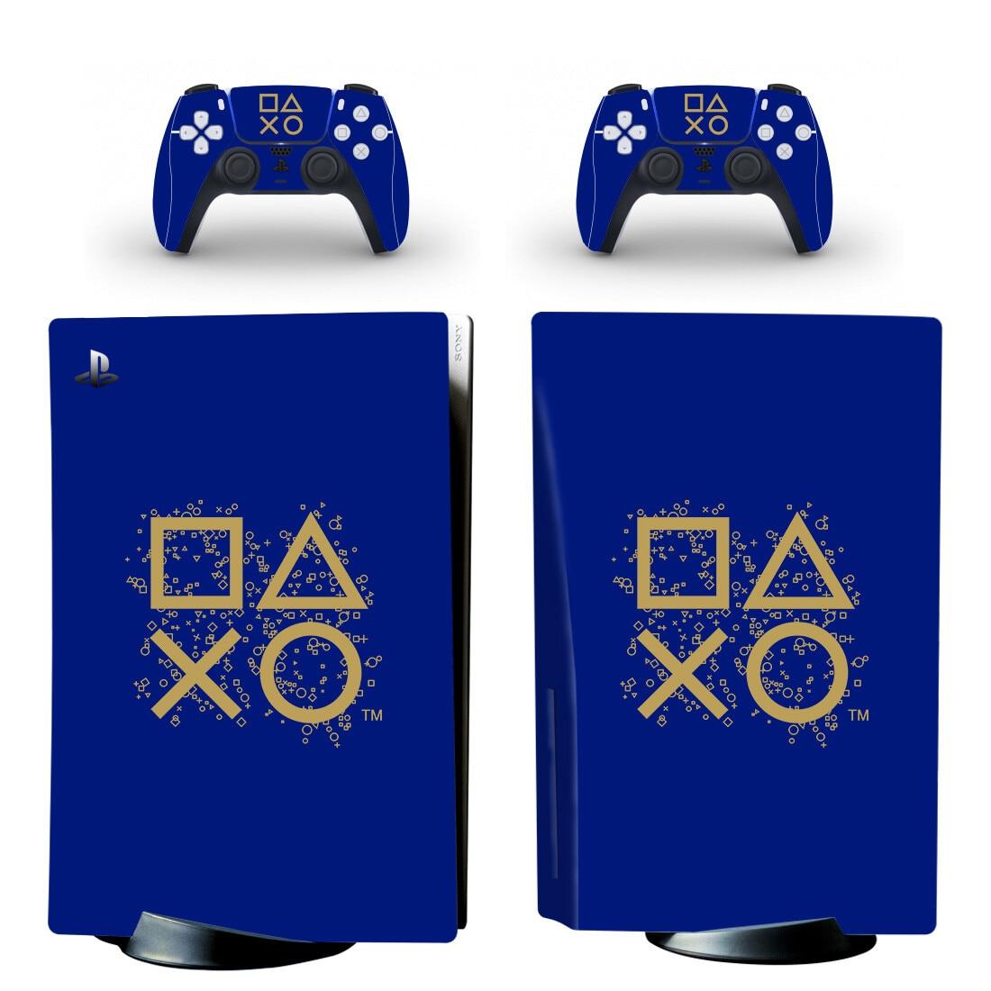جديد PS5 القياسية القرص الجلد ملصق مائي ل بلاي ستيشن 5 وحدة التحكم و 2 تحكم PS5 القرص الجلد الفينيل