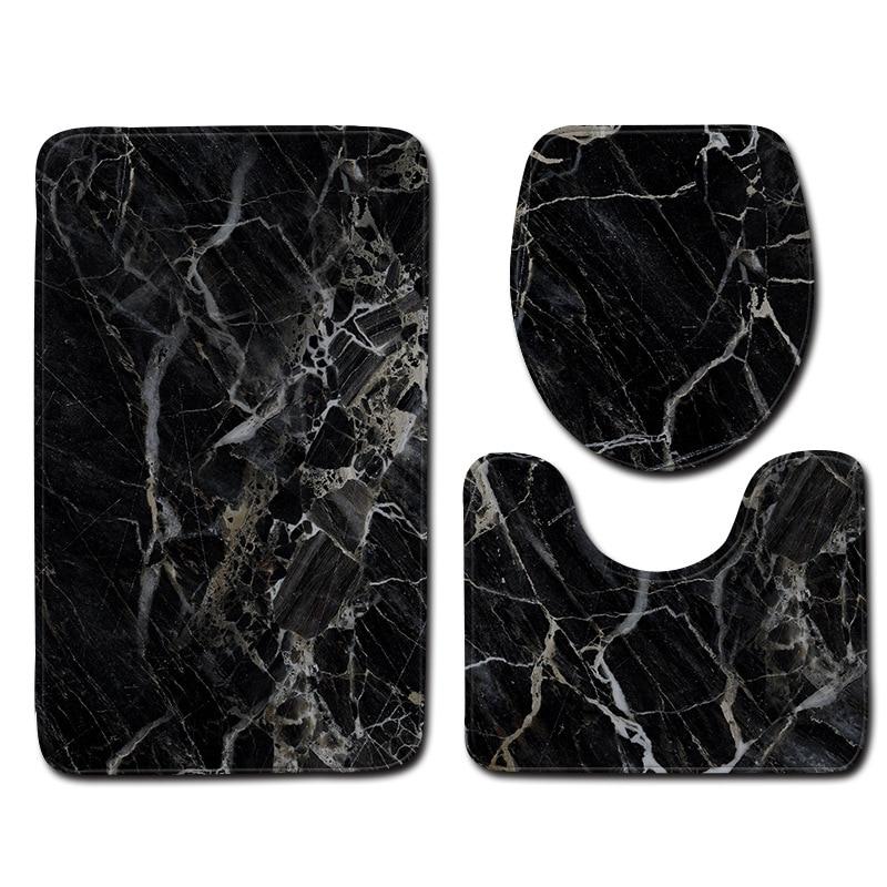 Alfombrillas antideslizantes con estampado de mármol para baño, alfombra con tapa, antideslizante,...