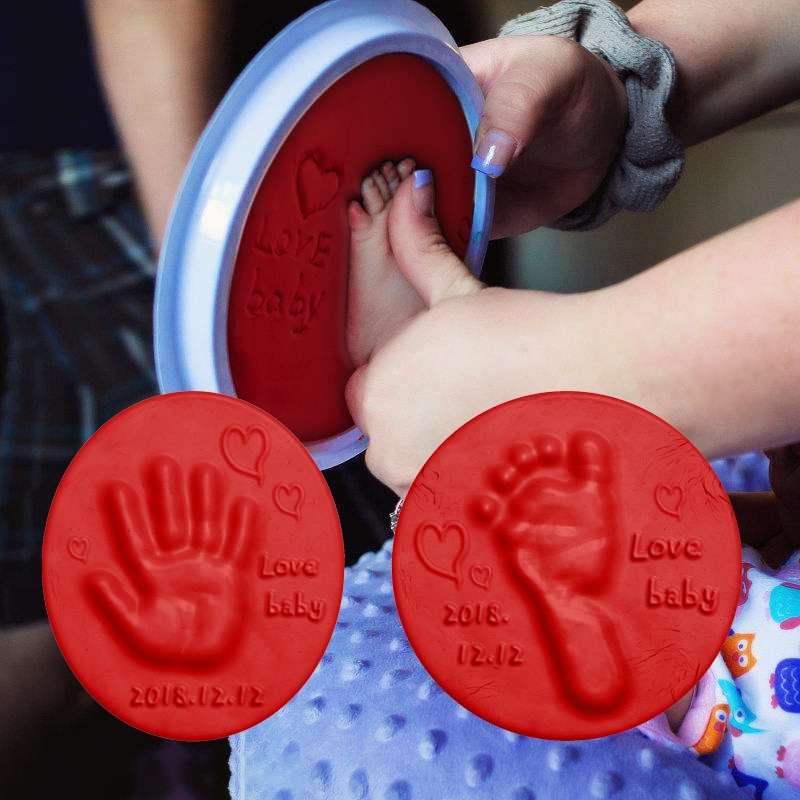 Soft Clay DIY Newborn Baby Souvenirs Hand Print Footprint Non-toxic Clay Kit Casting Parent-child Hand Ink Pad Fingerprint Toys