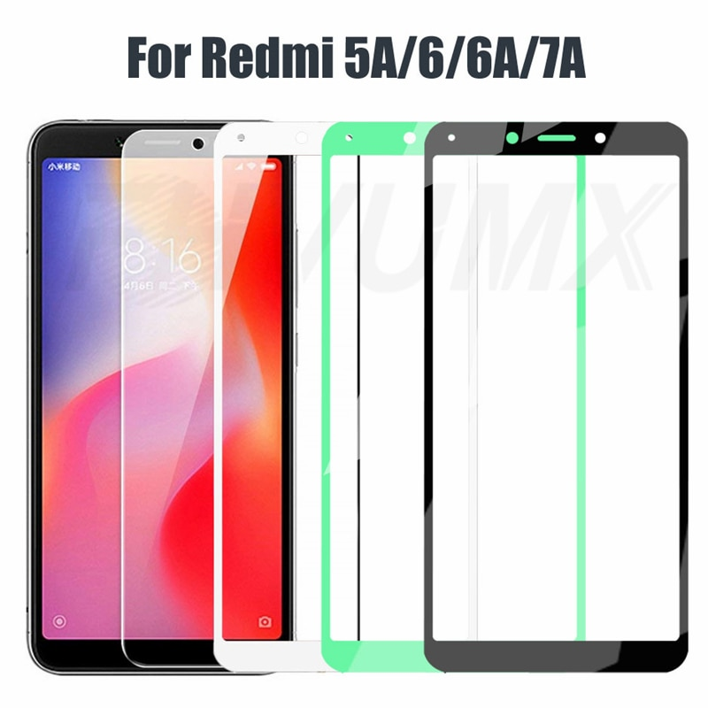 9D Full Cover Tempered Glass For Xiaomi Redmi 6 6A Anti-Burst Screen Protector On the Redmi 5A 6A 7A