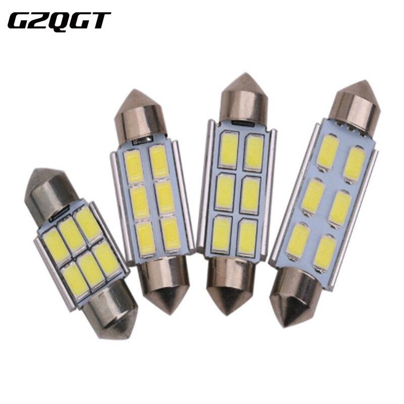 100x светодиодная гирлянда 31 мм C5W 36 мм LED canbus 6SMD 42 мм LED 9 SMD 5630 Автомобильная интерьерная купольная лампа номерного знака лампы для чтения