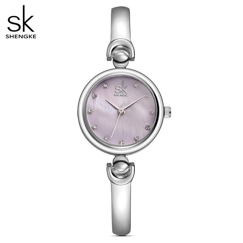 Shengke reloj mujer moda pulseira relógios de pulso marca feminina genebra relógio de quartzo à prova dwaterproof água meninas presente relógio de pulso 2020