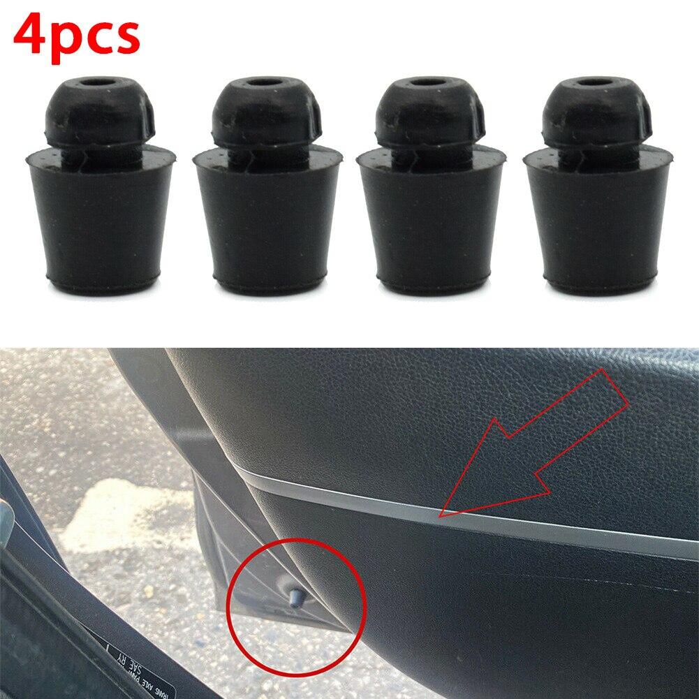 Универсальные черные амортизаторы для дверей автомобиля, 4 шт., буферная накладка, резиновая противотехнические ограничители Для Hyundai BMW