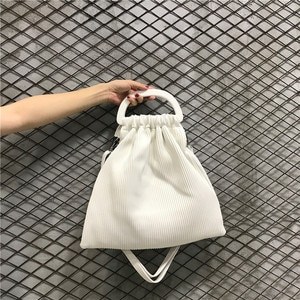 Aelicy Women's Casual Tote Canvas Pleated Bag Candy Color Foldable Shoulder Bag Shopping Bag Leisure Light Folding Handbag 2019