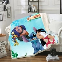 cartoon lilo stitch blanket soft throw 3d print for adults on thebedsofaplanetravel bedspread kids gift 100x140150x200cm