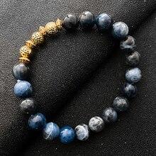 Fashion Blue Tigereye Gemstone Bracelet for Women And Men  Natural Stone Beaded Bracelet Luxury Jewe