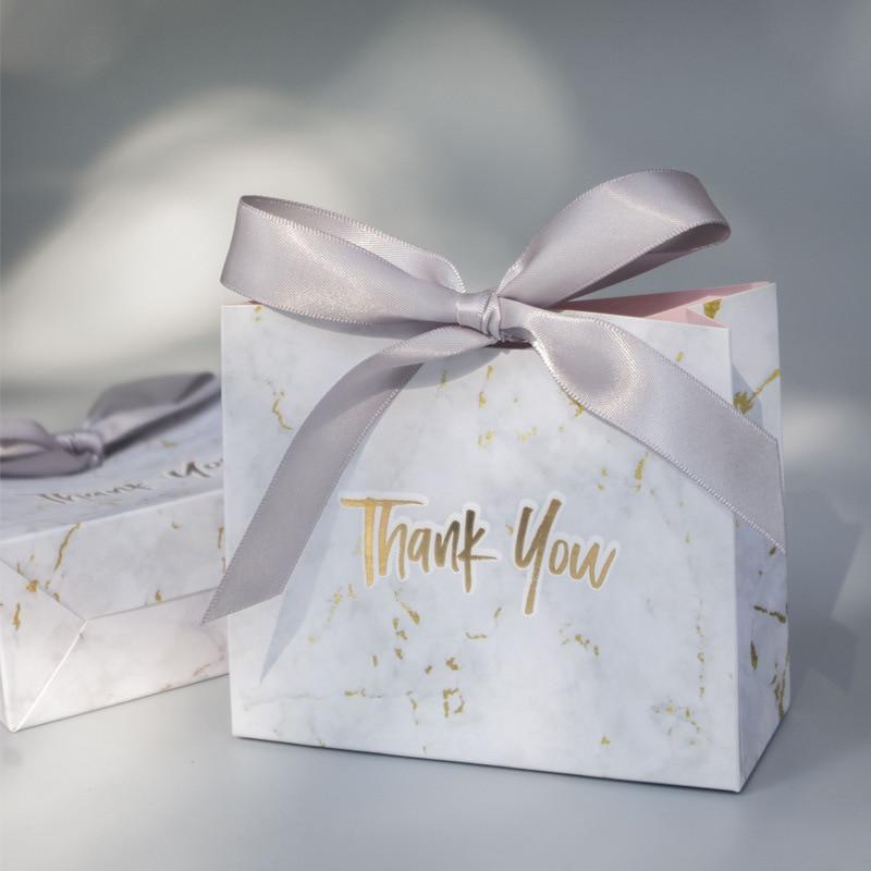 Mini bolsa de regalo de agradecimiento, decoración de Boda para Celebración de...