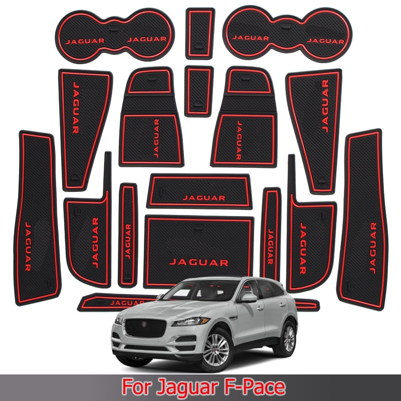 Almohadilla de ranura para puerta de Jaguar f-pace, caja de almacenamiento Interior,...