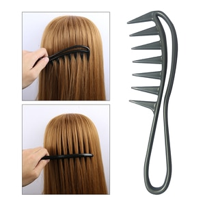 Hairdressing Hair Comb Grey Wide Tooth Comb Wide Tooth Comb Curly Hair Heat-resistant Hair Brush Hair Care Handgrip Comb Styling