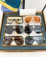 2021 new fashion oversize rectangle acetate frames men and womens sun glasses gg0990s vintage luxury uv400 lady eyeglasses
