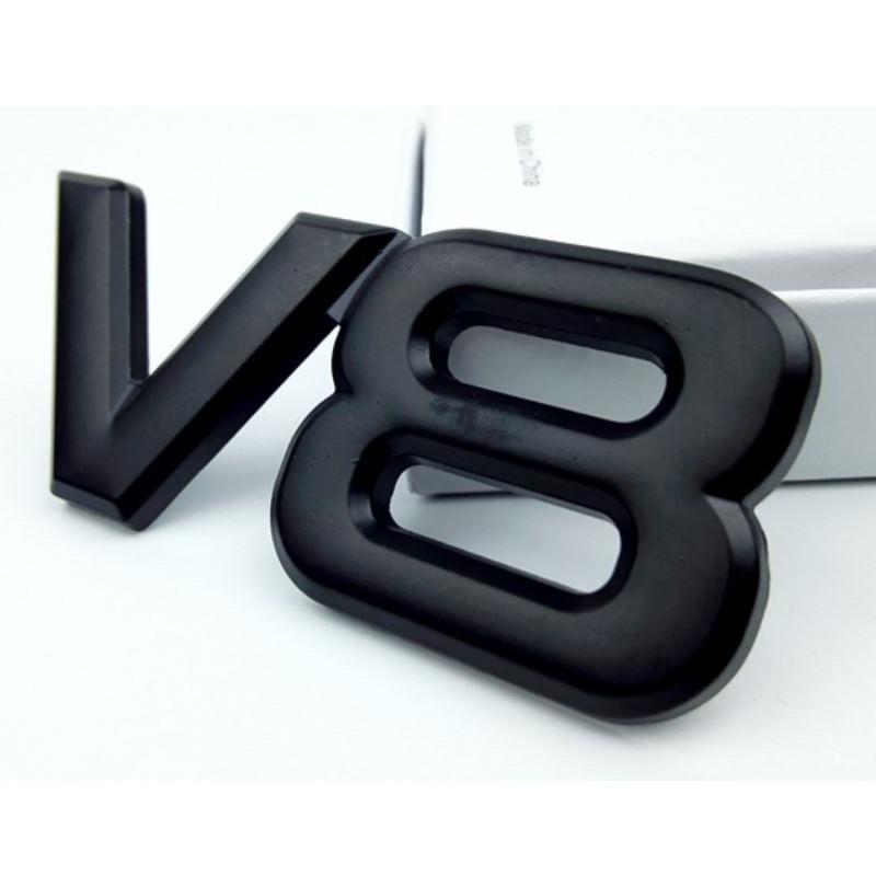 Car sticker For Toyota Metal V8 displacement logol modification standard 3D car sticker
