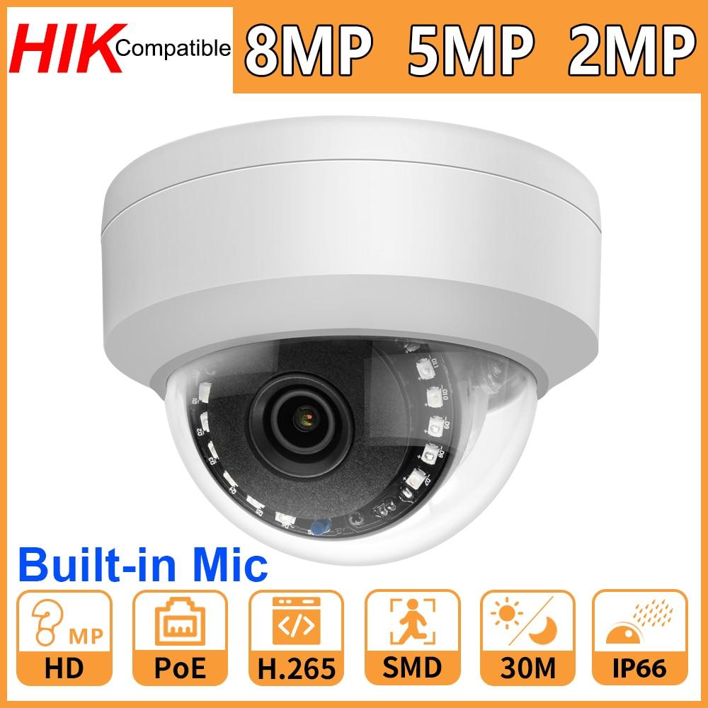 Hikvision Compatible 8MP 5MP 2MP cámara de red IP de seguridad cámara...