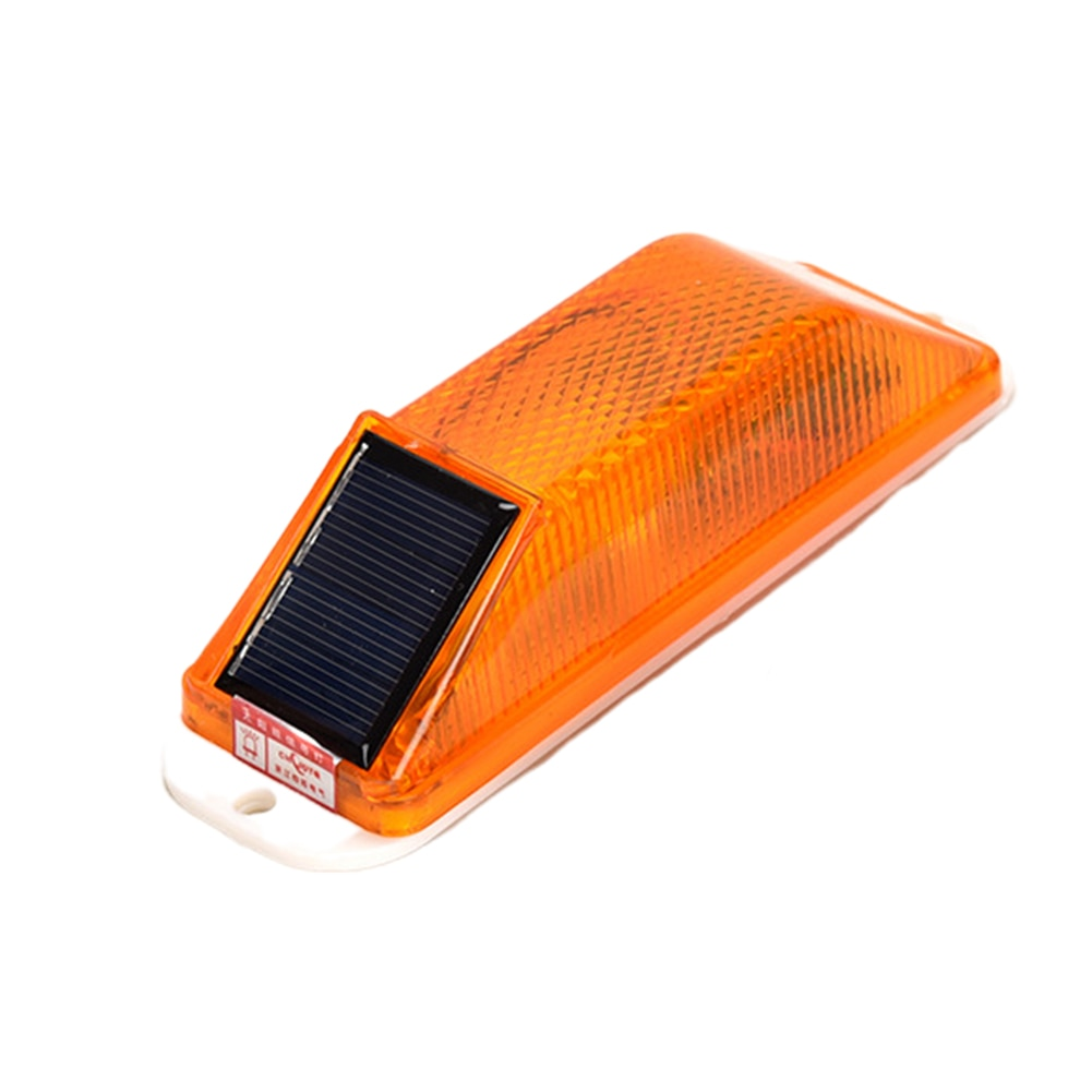 Warning LED Lamp Chip Control Night Driving Rechargeable Signal Solar Powered Strobe Flash Roadway Safety Bridge Construction