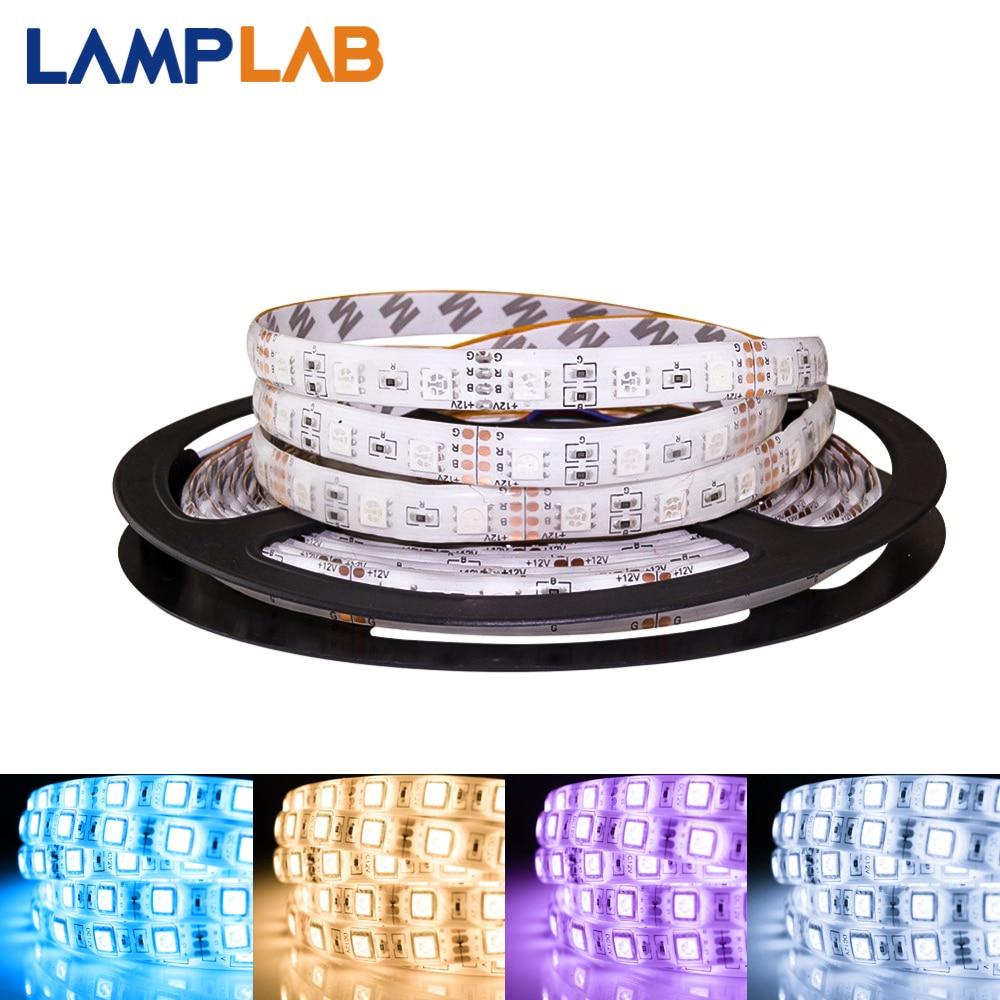 LED Streifen Licht DC 12V Flexible Diode Band Band SMD2835 5050 RGB 24Key 44Key Full Set Strom Wasserdicht 1M 2M 3M 4M 5M Beleuchtung
