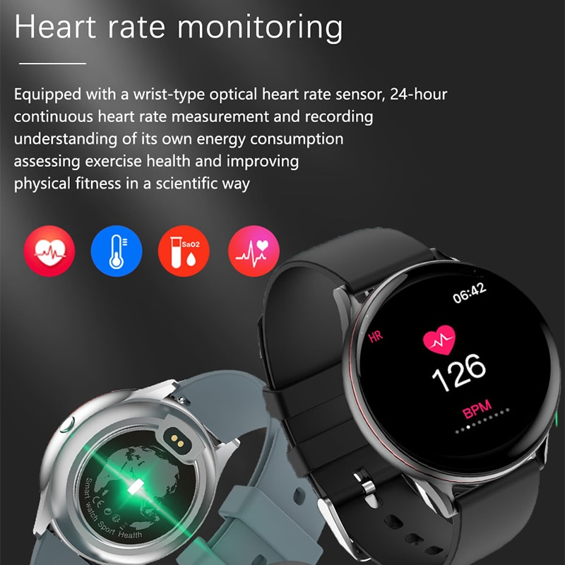 LIGE 2020 New Full Touch Screen Smart Watch Women Sport Watch Fitness tracker Heart Rate Blood Pressure Waterproof Smartwatch enlarge
