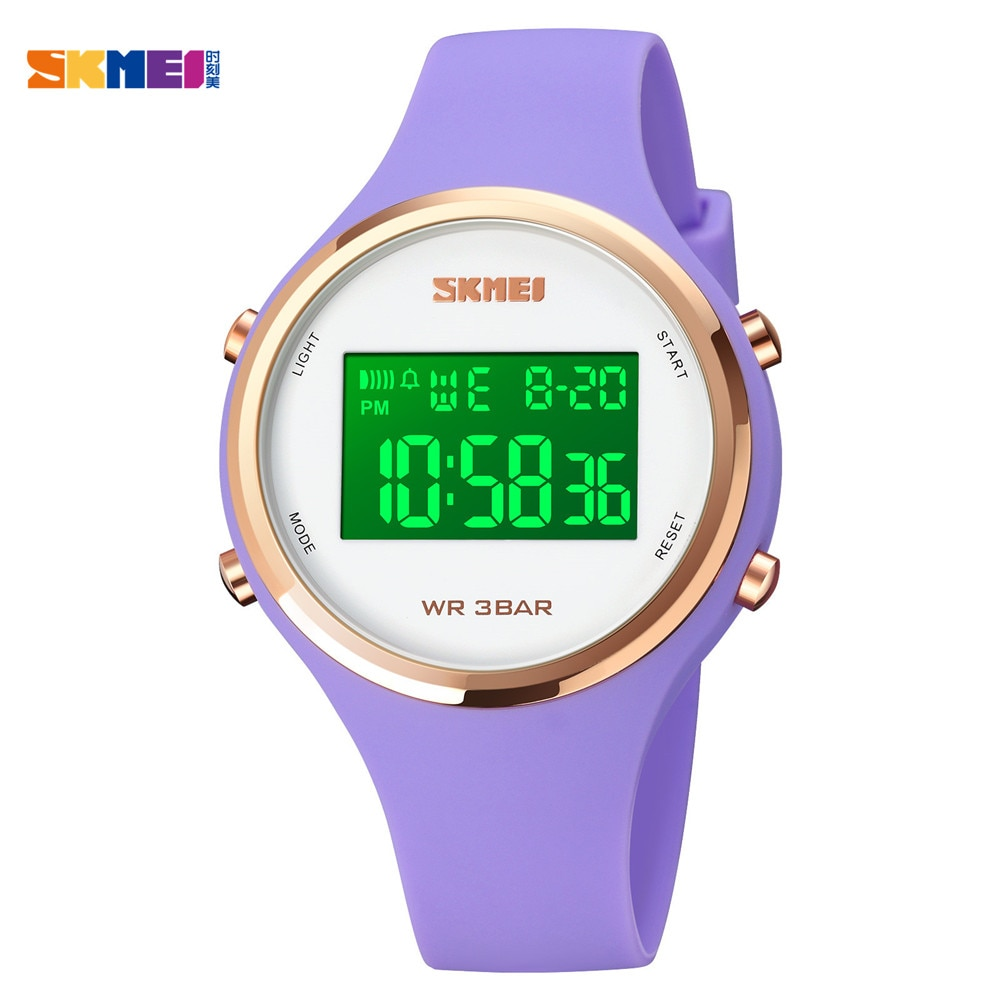 SKMEI 1720 LED Light Electronic Women Sports Watches Ladies Digital Date Clock Female Wristwatch Relogio Feminino 6 Kinds Color enlarge