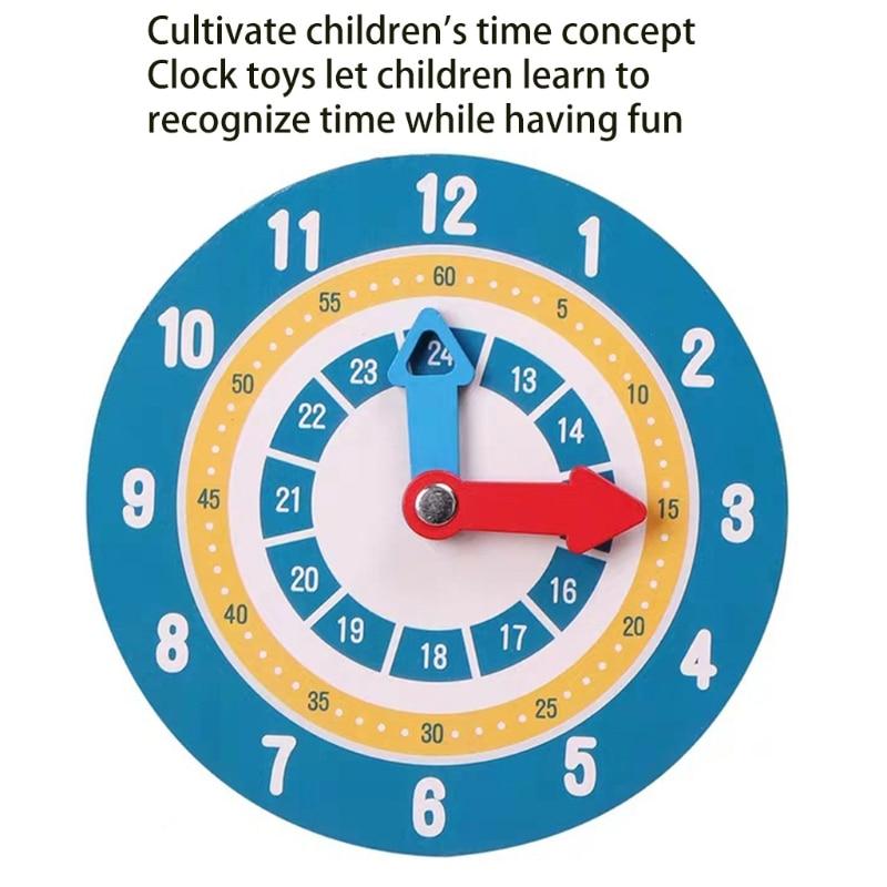 W3JF Обучающие часы, игрушка, двухсторонняя занятая доска, игра для детей дошкольного возраста