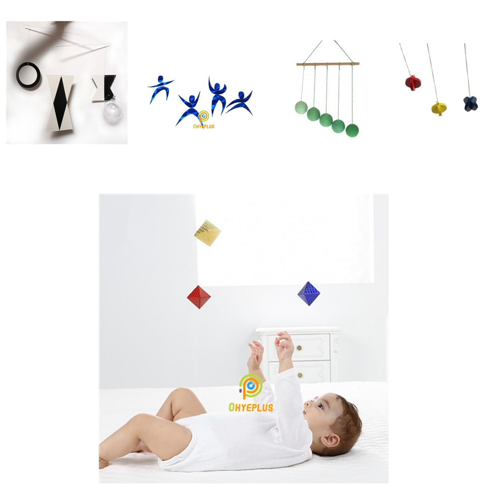 5 Sets Classic Montessori Mobiles Visual Senses and Focus Exercises Baby Toys 0-12 Months Early Educational Toys for Kids