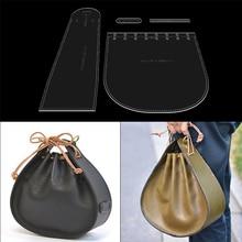 Leder vorlage diy hand werkzeuge damen handtasche schulter messenger tasche acryl vorlage nähen muster