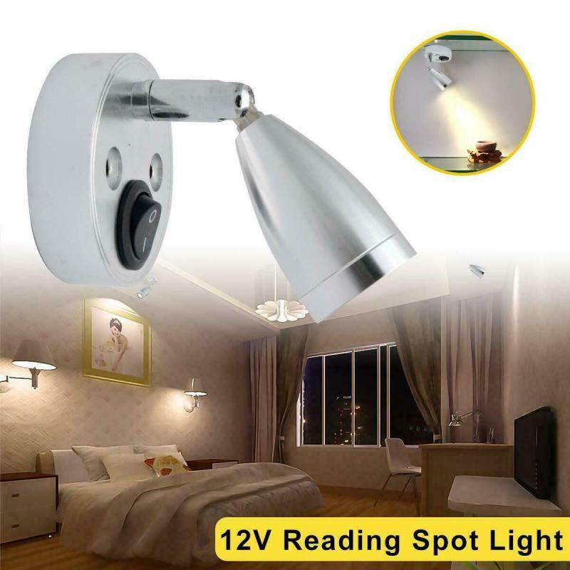 180/360 Degree Rotetiion 12V LED Spot Reading Light Switch Camper Van Caravan For Boat Motorhome Warm Light Caravan Accessories