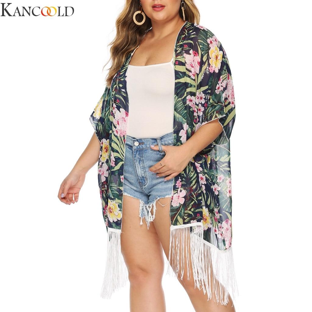 KANCOOLD, vestido Sexy suelto de talla grande de alta calidad para mujer, traje de baño para Bikini, traje de baño de Crochet, novedad en ropa de playa