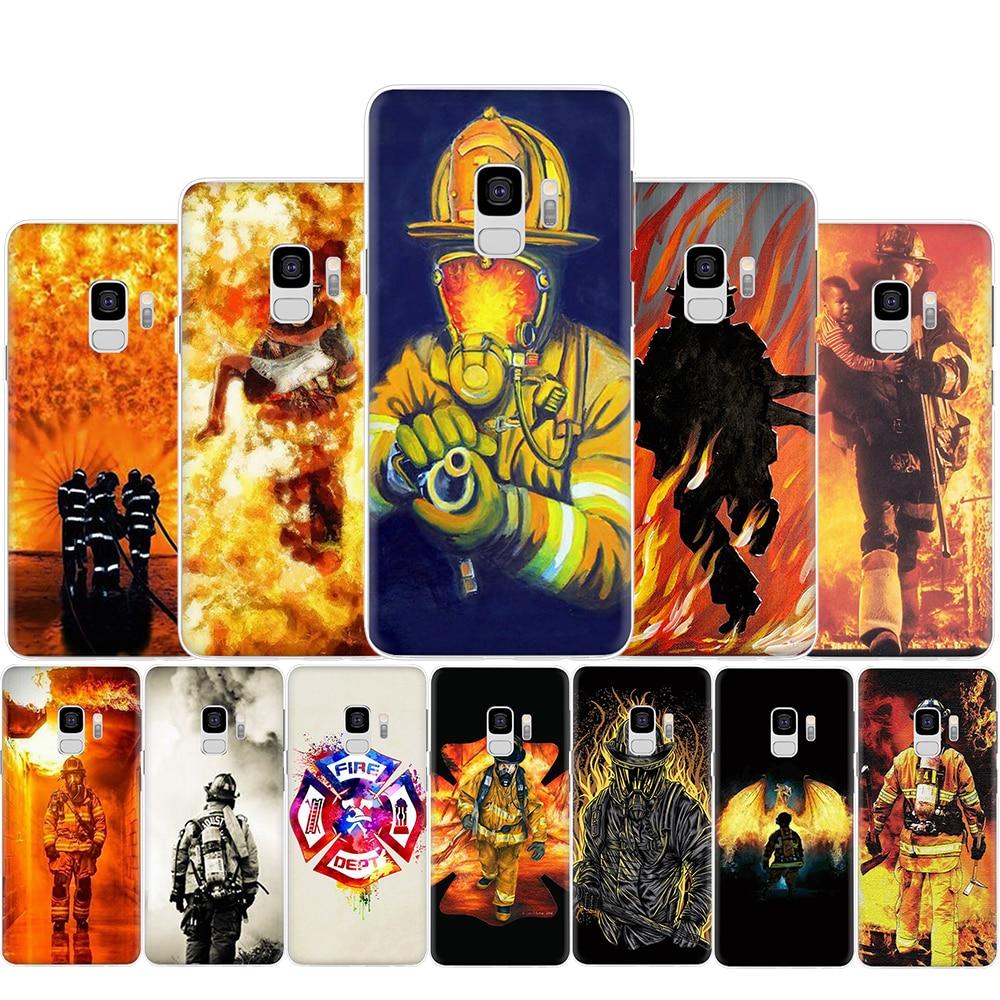 Bombero héroes bombero duro caja del teléfono para Samsung S6 S7 borde S8 S9 S10 más S10e Nota 8 9 10 M10 M20 M30 M40