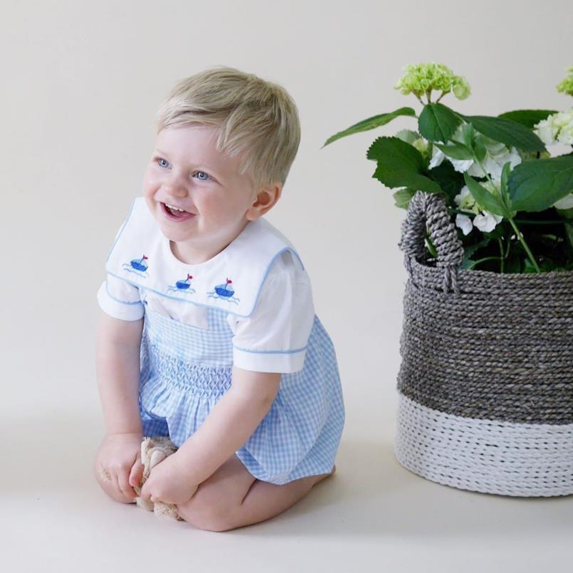 2020 летние новые футболки для мальчиков и девочек в испанском стиле детские хлопковые мягкие топы с вышивкой для малышей, однобортная детская футболка Топы Y2883
