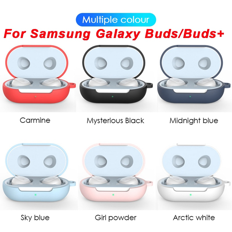Para Samsung Galaxy Buds Plus funda de silicona suave Compatible para Galaxy Buds + carcasa 2020 se adapta perfectamente a estuche de carga